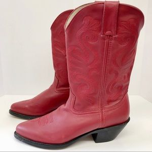 Durango Women's Red Leather Cowboy Boots Size 9.5M